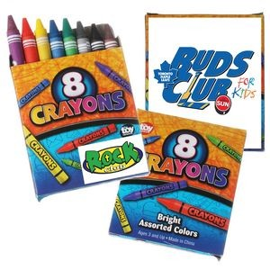 8 Pack Crayons