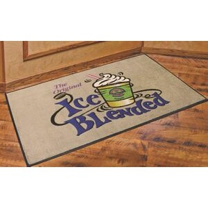 DigiPrint™ Nylon Indoor Carpeted Logo Mat w/Rubber Backing (3'x4')